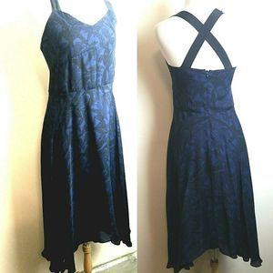 Derek Lam 100% Silk dress Strappy Black Maxi xs